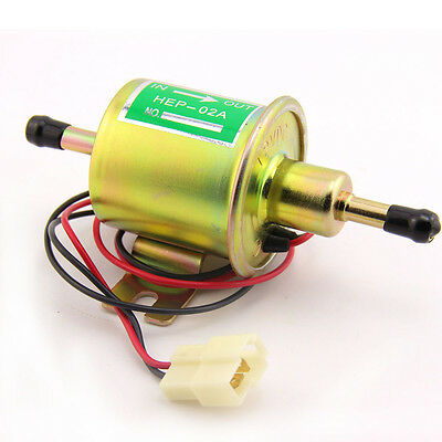 12V Heavy Duty Electric Fuel Pump Air Intake Delivery Metal In tank Solid Petrol