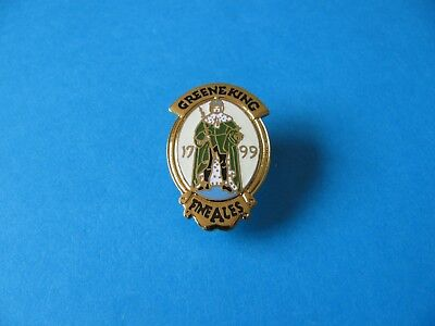 Greene King Brewery pin badge, VGC. Unused.  Enamel.