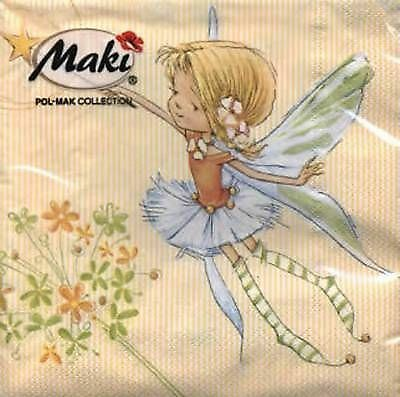 4 x Paper Napkins- Fairy -Ideal for Decoupage / Decopatch [1661726]