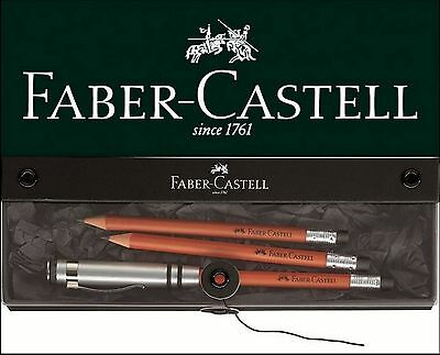 Faber-Castell Perfekter Bleistift DESIGN braun Geschenkset perfect pencil Set