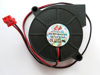 Black Squirrel Blower Cooling Fan  0.06A 12V Brushless DC motor 2 Wires 50x15mm