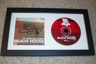 TY DOLLA SIGN TY$ SIGNED BEACH HOUSE FRAMED CD DISPLAY B w/EXACT PROOF AUTOGRAPH