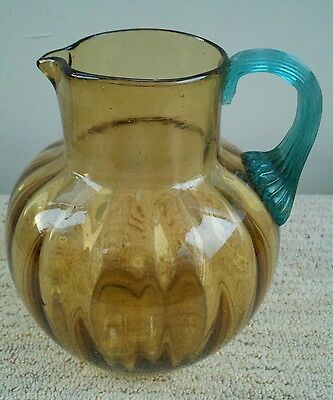 Rare Two Color Phoenix Glass Pitcher Ca. 1890