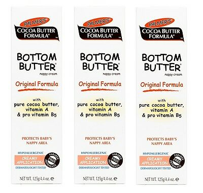Palmers Bottom Butter Nappy Cream 3x125g (Triple Pack Special)