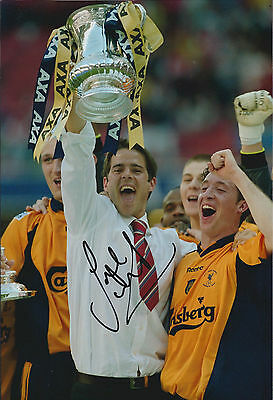 Jamie REDKNAPP Signed Autograph 12x8 Photo AFTAL COA Liverpool FA Cup Winner