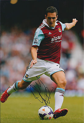 Stewart DOWNING Signed Autograph 12x8 Photo AFTAL COA West Ham United Hammers