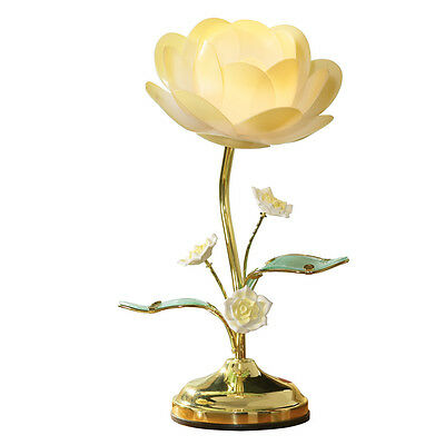 Collections Etc Lotus Flower Touch Table Lamp