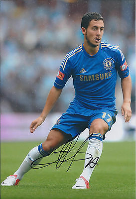 Eden HAZARD Signed Autograph Photo AFTAL COA Premier League Authentic Chelsea