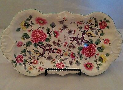 CHINESE ROSE Pattern SMALL SERVING TRAY James Kent OLD FOLEY Staffordshire