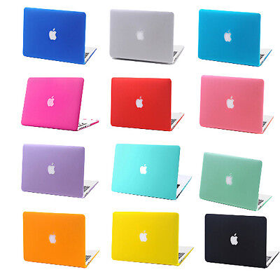"Rubberized Hard Case Laptop Cover for Apple Macbook Pro 13""/15"" Air 11""/13""inch"