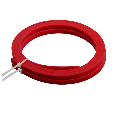 2pcs Red ABS Acoustic Guitar Binding Purfling Strip 1650*6*1.5mm Body Project