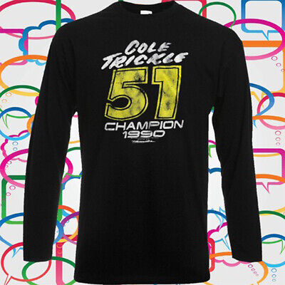 Cole Trickle Days Of Thunder Movie Men's Long Sleeve Black T-Shirt Size S-3XL