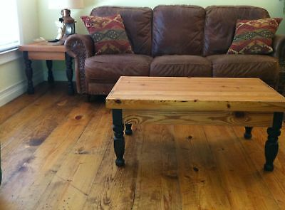 Distressed prefinished wide plank heart pine flooring, longleaf yellow pine