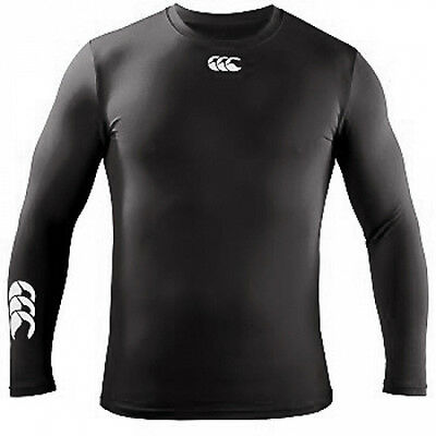 029828 SPORTS DEAL Canterbury CCC Baselayer Cold Long Sleeve Top Black - Junior