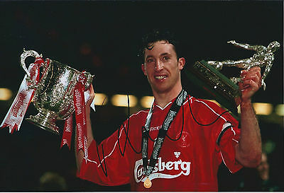 Robbie FOWLER Signed Autograph 12x8 Photo AFTAL COA Liverpool Legend Cup Winner