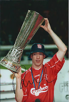 Robbie FOWLER Signed Autograph RARE Photo AFTAL COA Liverpool UEFA Cup Winner