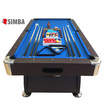 TAVOLO DA BILIARDO 8ft super accessoriato carambola POOL - billard table NUOVO