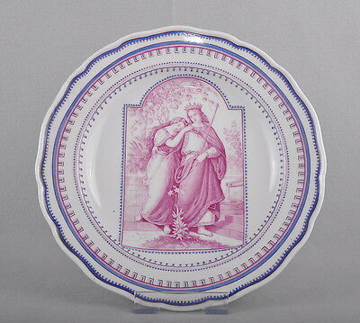 Meissen Dish Plate With Figural painting, 24 Cm, pommel Time Around 1880