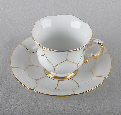 Meissen B-form, coffee set, cup and saucer