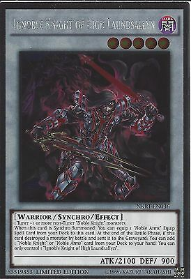NKRT-EN005 Ignoble Knight of Black Laundsallyn Platinum Rare Limited Ed Yu-Gi-Oh