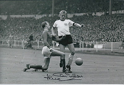 Jack CHARLTON SIGNED COA Autograph Photo AFTAL 1966 England World Cup Legend
