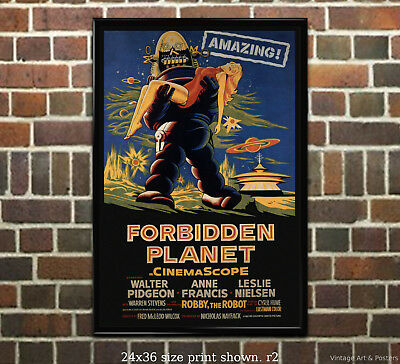 Forbidden Planet #1 Vintage Film Movie Poster [4 sizes, matte+glossy avail]