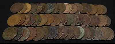 10 Old Rare Full Date Indian Head Penny Cent Lot Estate Hoard Average Circulated