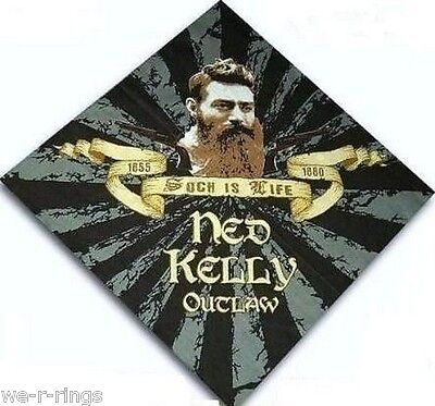 """Ned Kelly """"such Is Life"""" Outlaw Cotton Bandana Bandanna"""