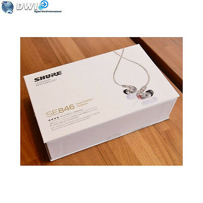 Brand New Shure Se846 Se 846 Sound Isolating Earphone Clear