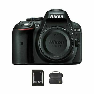 Nikon D5300 DSLR Camera - Black + 64GB & Case