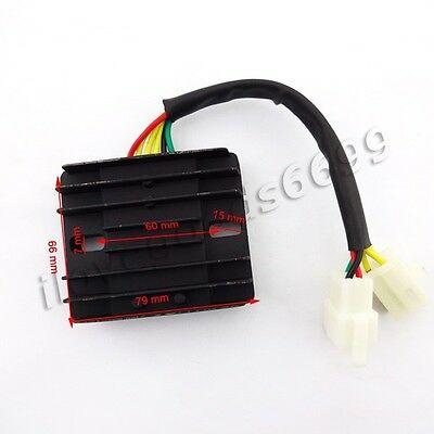 6 Wire 12V DC Voltage Regulator Rectifier For GY6 150cc 200cc 250cc ATV Scooter