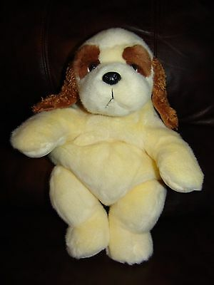 Russ Berrie and Company Cream and Brown Puppy Dog Backpack Plush Doll 16""
