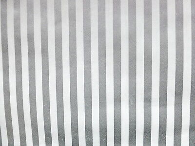 Striped Silver White Vintage Wallpaper C&A Wallcoverings FT3154 Double Rolls