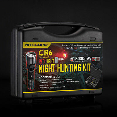 Nitecore CR6 Hunting Kit 10 items Switch/Filter/Gun Mount/Battery/Charger