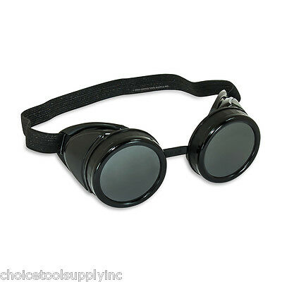 """Black Steampunk Welding Cup Goggles Style """"B"""""""