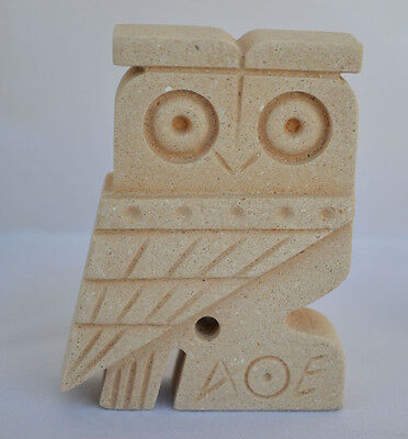 Owl Of Athens Small Statue - Ancient Greek Cycladic Art - Goddess Athena