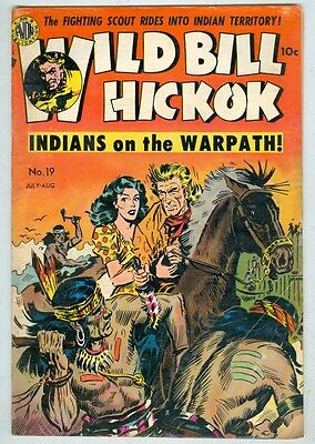 Wild Bill Hickok #19 July 1954 G/VG Kinsler cover and art