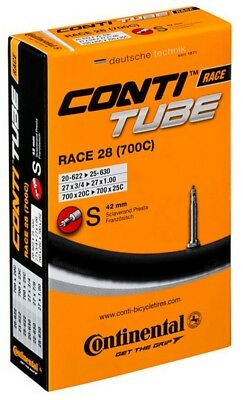 Continental Race Bike Inner Tube 700c x 18-25c Presta Valve Replacement Bicycle