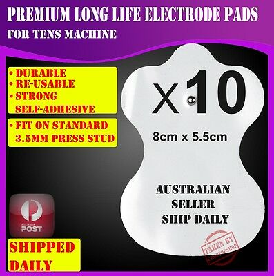 10 Electrode Pads for TENS EMS Machine Massager XFT CIRCULATION BOOSTER Unit