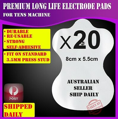 20 Electrode Pads for TENS EMS Machine Massager XFT CIRCULATION BOOSTER Unit