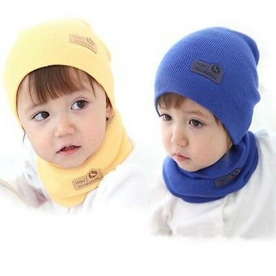 Baby Winter Warm Hat Children Kids Cap Earflaps Thickening Knitted Sport 2 Color