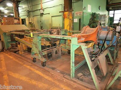 "200 Ton Rodgers Horizontal Forcing Wheel Press 144"" Long Hydraulic"