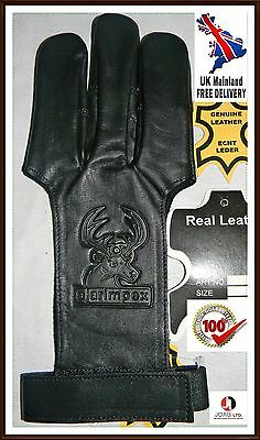 Kids Archers Leather Shooting 3 Fingers Glove For Kids