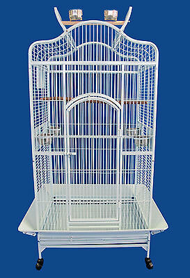 Bird Parrot cage Macaw Cockatoo African Grey Q24-2822 - White