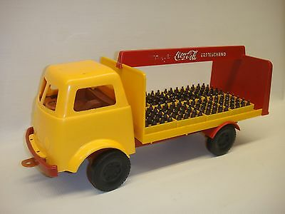 """Schildkrot Vintage Coca-Cola 1950's 15"""" long Toy Truck Made in Germany"""