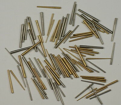Clock taper pins 100x steel brass assorrted mix sizes pin tapered repairs parts