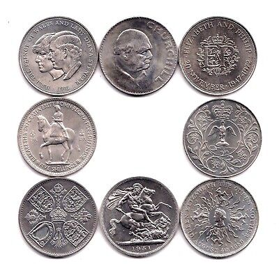 Various British Crown Coins Choose from 1951 1953 1960 1965 1972 1977 1980 1981