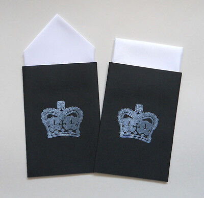 Men's Pocket Hankies - Set Of Two White - Fixed Prefolded Handkerchief In Card