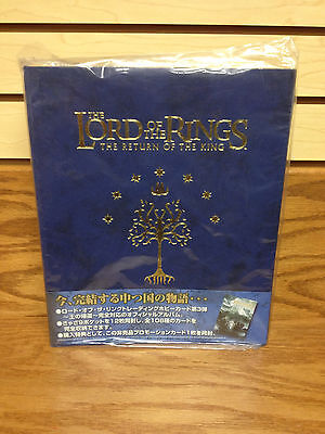 Lord of the Rings Return of Kings Trading Card Collectors Album with Pages