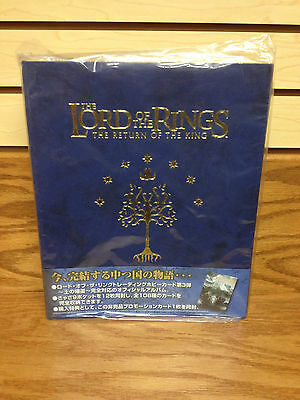 Rare Japanese! Lord of the Rings Return of Kings Card Collectors Album w/ Sheets